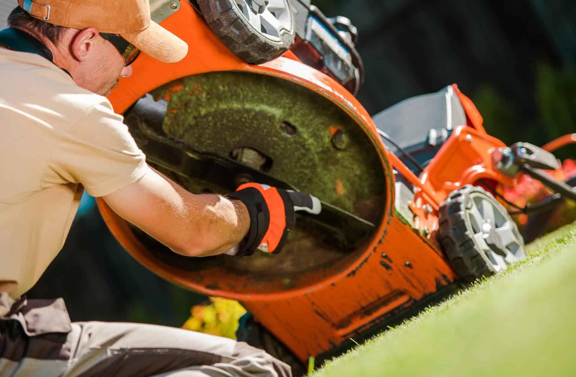 Checking Lawn Mower Blades